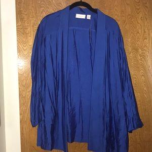 Chico's rayon/nylon blue blazer